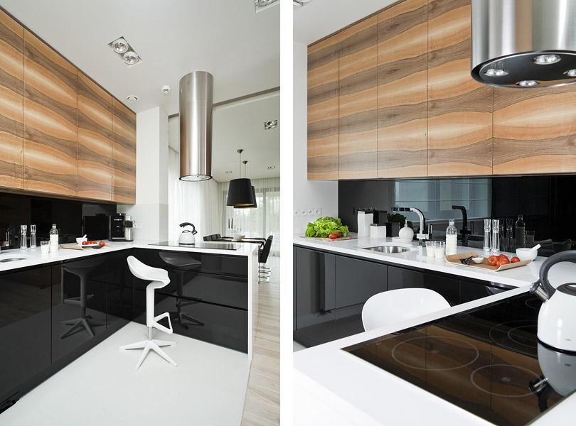 projektowanie wnętrz - nowoczesna kuchnia