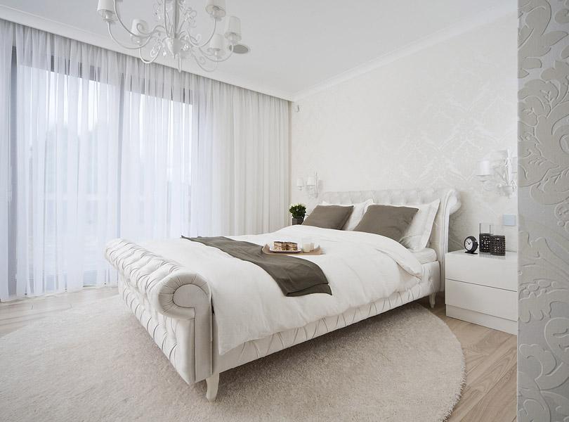 projektowanie wnętrz - inteligentny dom z sypialnią glamour