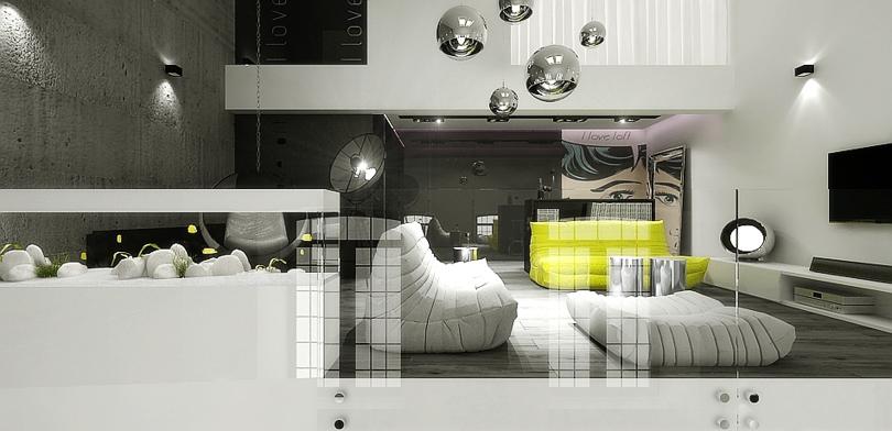 projektant wnętrz - loft w Łodzi