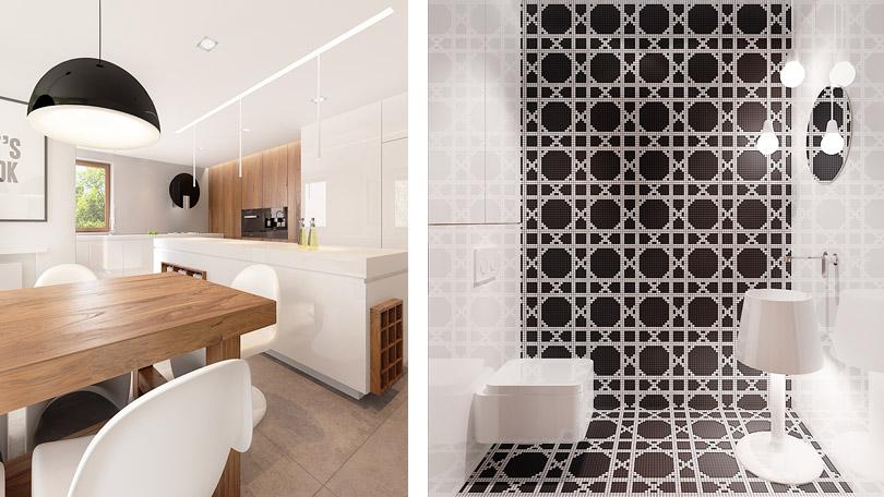 projektowanie wnętrz - wnętrze z mozaiką bisazza