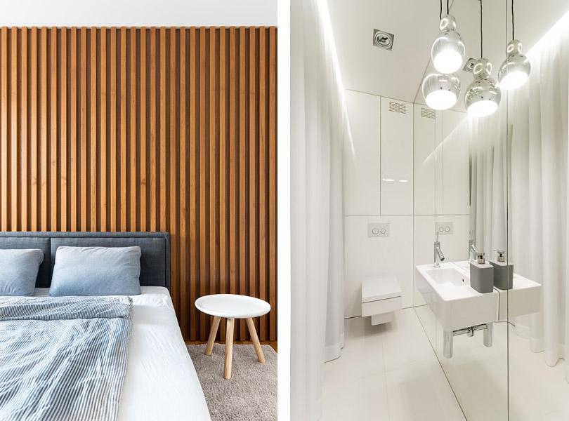 projektowanie wnętrz - biała łazienka