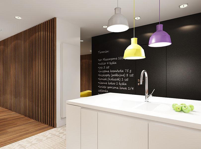 projektowanie wnętrz - nowoczesne, ciepłe wnętrze