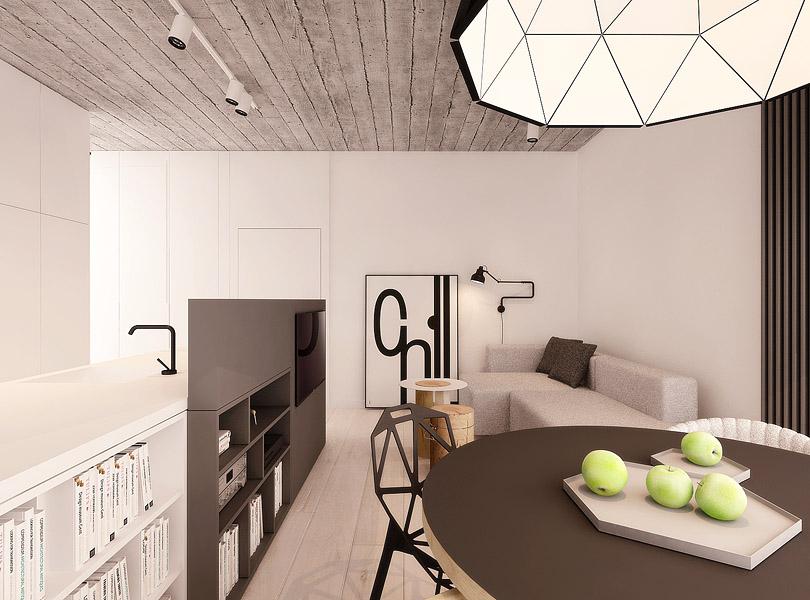 projektowanie wnętrz - loft w Łodzi