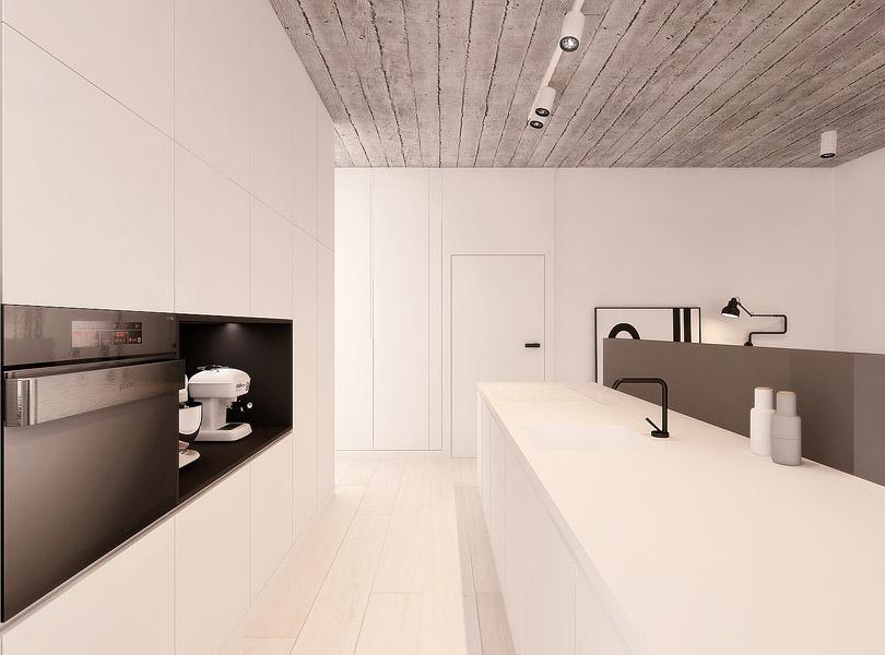projektowanie wnętrz - loft w Łodzi, kuchnia