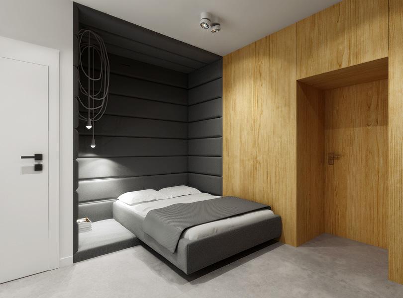 pokój młodzieżowy z wnęką tapicerowaną