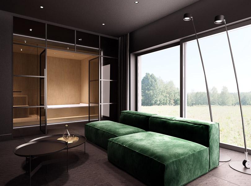 Pokój kinowy i sauna
