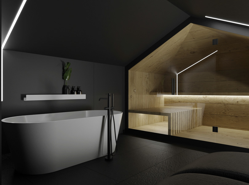 Projekt sauny na poddaszu